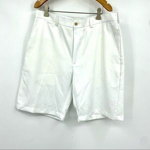 "Ben Hogan 9.5"" performance golf shorts white 34"